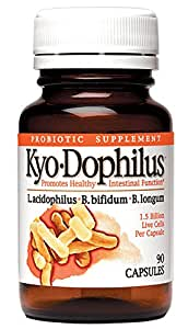 Kyolic Kyo-Dophilus Digestion and Immune Health Probiotic Supplement (90-Capsules) by Kyolic