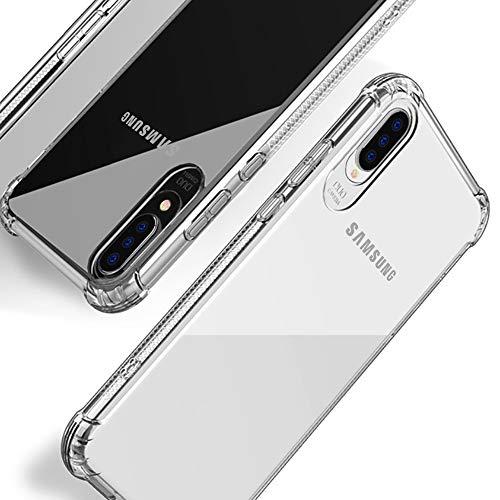 Beetop Kompatibel Mit Samsung Galaxy A50 Hülle Schutzhülle [Verdickung an 4 Seite] Handyhülle Transparent Weiche Silikon TPU Rückschale Case Cover Für Samsung Galaxy A50 - Durchsichtig(WSJ)