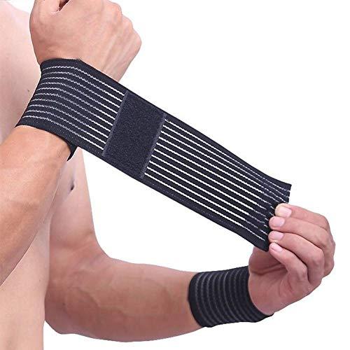 1PC Algodón Fitness elástico venda mano ajustable