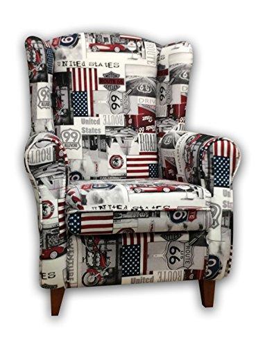 De Sillones Descanso (suenoszzz-sillón Sessel OREJERO. (ideal für Stillkissen) Polster Gewebe HP USA. Maße: 104x 76x 74.)