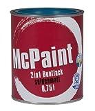 McPaint 2in1 Buntlack Grundierung und Lack in einem für Innen und Außen. PU verstärkt - speziell für Möbel und Kinderspielzeug seidenmatt Farbton: RAL 5010 Enzianblau 0,75 Liter - Bastellack- Andere Farben verfügbar