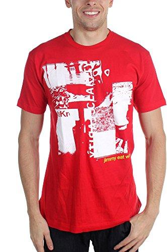 Jimmy Eat World-Clarity-Maglietta da uomo rosso Large