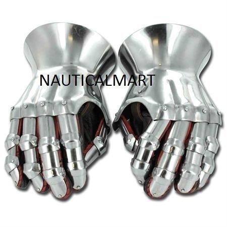 Mittelalter Renaissance funktionelle Sanduhr Handschuhe Set