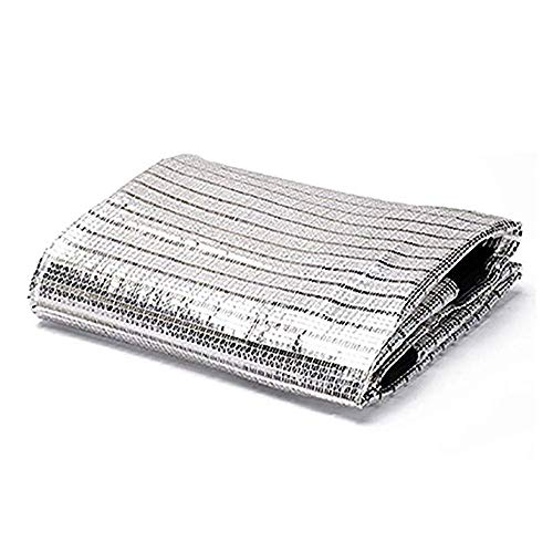 MYYDD Aluminiumfolie-Farbton-Stoff-Sonnenschutz-Netz-Sonnenschutz-Gewebe-UVschutzplane für Garten-Balkon-Schuppen-Farbton-Netz,3x7m (7x3 Schuppen)
