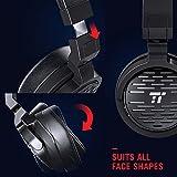 Bluetooth Kopfhörer 4.1 TaoTronics Over Ear Kopfhörer on ear kabellos, 25 Stunden Spieldzeit, AptX, 50 mm Membran, Memory Foam Ohrpolster, Headset mit Kabel & ohne, flexibles & ergonomisches Design - 4