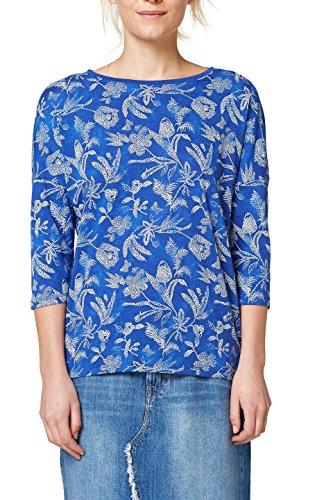 ESPRIT Damen Langarmshirt 028EE1K044, Mehrfarbig (Bright Blue 410), Medium Preisvergleich