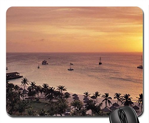 radisson-resort-on-aruba-at-sunset-mouse-pad-mousepad-sky-mouse-pad