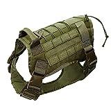 QYLJX Police K9 Tactical Hund Weste Geschirr, MilitäR Einstellbar Molle Nylon Hund Weste, Komfortable Steuerung Griff, Geeignet FüR Mittlere Und GroßE Hunde