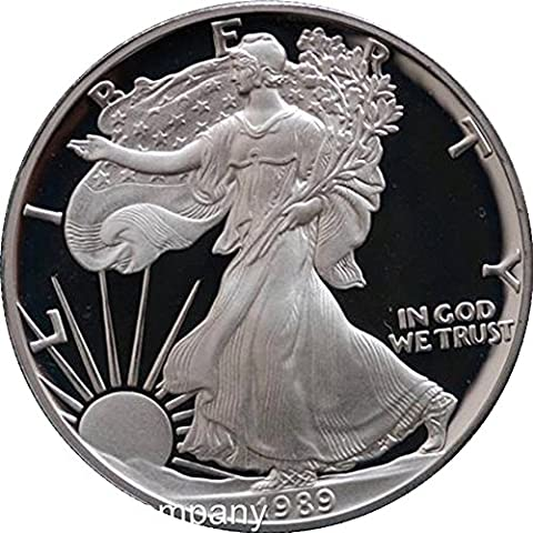 1989Unzen American, silber Proof Liberty Eagle One Dollar Coin