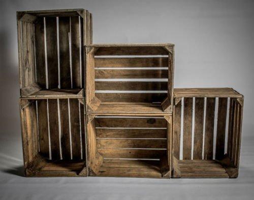 1handgefertigt Vintage Apple Box Box aus Holz–Vielseitig Rustikal Speicherung und Display Rustikal (Box Rustikale Holz-shadow)
