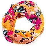 ManuMar Loop-Schal für Damen | Hals-Tuch mit Schmetterlinge-Motiv als perfektes Sommer-Accessoire | Schlauch-Schal - Das ideale Geschenk für Frauen