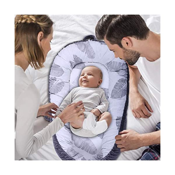 Mr.LQ Crib Bed Removable And Washable Portable Washable Uterine Bionic Bed,color2,80x50cm  ☀100% cotton fabric and breathable, hypoallergenic internal filler, which is safe for baby's sensitive skin. It will give your child serene, safe, and sound sleep in their lovely co sleeper bassinet. ☀Being adjustable, the side sleeper grows with your baby. Simply loosen the cord at the end of the bumpers to make the size larger. The ends of the bumpers can be fully opened. ☀Use the infant nest as a bassinet for a bed, baby lounger pillow, travel bed, newborn pillow, changing station or move it around the house for lounging or tummy time, making baby feel more secure and cozy. The lightweight design and easy-to-use package with handle make our newborn nest a portable baby must-have. 2
