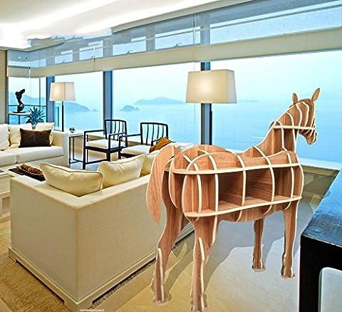 Étagères à cheval de SZXCes Modélisme animalier en bois Décoration de plancher Mode Meubles créatifs Décoration Hauteur 1.1 M Ou 1.5 M Choisir , color 1.4 metres convenient