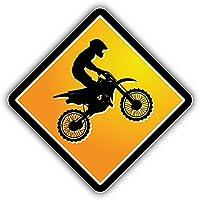 Motocross Sign Pegatina de Vinilo Para la Decoracion del Vehiculo 12 X 12 cm