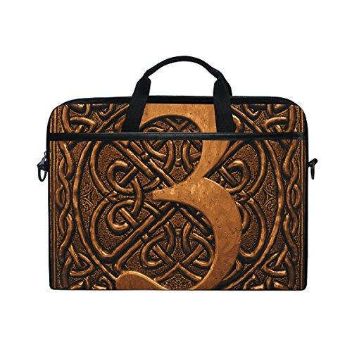 (Ahomy 3D Vintage Digital 35,6–39,1cm Multifunktional Stoff wasserdicht Laptop Tasche Aktentasche Schultertasche Messenger Bag)