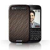Stuff4® Hülle/Hülle für BlackBerry Classic/Q20 / Gold Muster/Kohlenstoff-Faser-Muster Kollektion