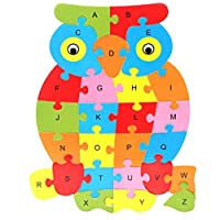 Snow-Day Children 26 English Alphabet Cognitive Puzzle Block Toy Puzzle Wooden Educational Toy