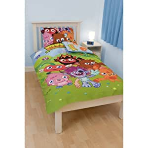 ensemble de literie moshi monsters pour enfant lit simple bleu vert cuisine maison. Black Bedroom Furniture Sets. Home Design Ideas