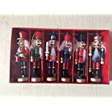 6pcs par lot Soldat Casse-noisette en Conséquence classique, 12,7cm/12.7cm Hauteur faite à la main en bois Casse-noisette, décoration d'arbre de Noël