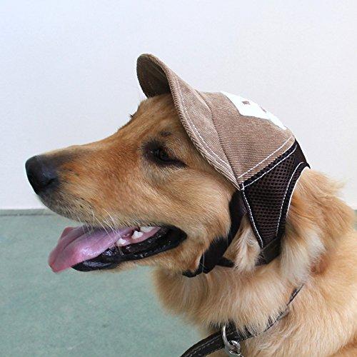 BEAUTOP Baseball-Sport-Mütze, Outdoor-Sonnenschutz-Kappe für große Hunde (optional), Größe und Farbe