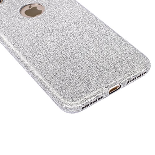 Cover iPhone 7 Plus,Custodia iPhone 7 Plus,ikasus® Crystal Clear TPU con Cristallo di lusso di Bling di scintillio lucido diamante scintilla Custodia Cover per iPhone 7 Plus Custodia Cover [Crystal TP Argento