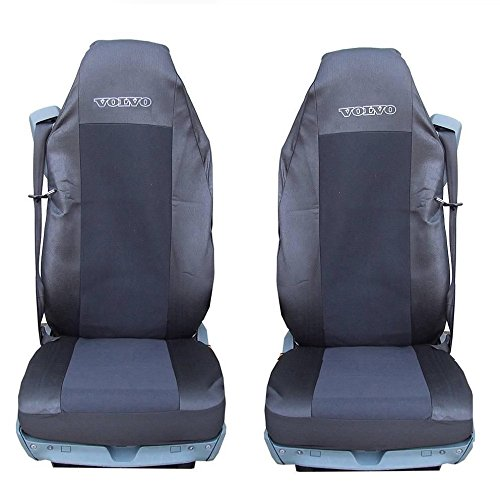 2x-car-seat-covers-black-heavy-duty-truck-volvo-fl-fe-fm-fh12fh16