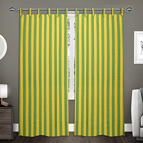 check MRP of green yellow curtains RAKSHA
