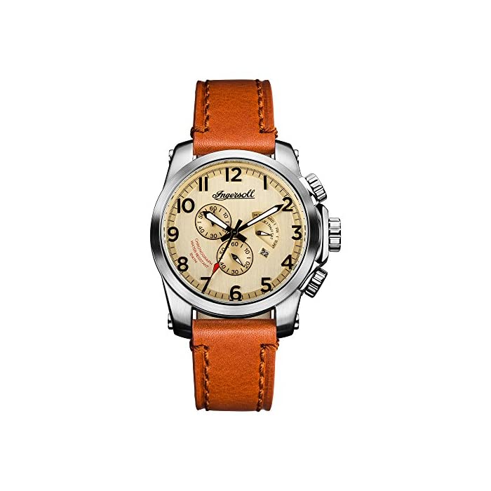Ingersoll Men's The Manning Quartz Watch with Leather Strap