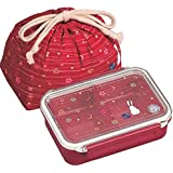 May flower tight box lunch bag with drawstring (Red) PCL-1 + KB-1 (japan import)