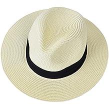 EEVASS Donne di Estate Bordo Largo Pieghevole Panama Cappello della  Spiaggia del Sole della Paglia della ae7795043b09