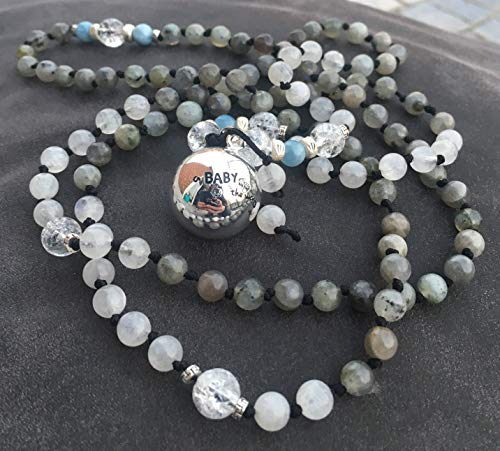 BOLA gravidanza in collana di pietra di luna, Labr...