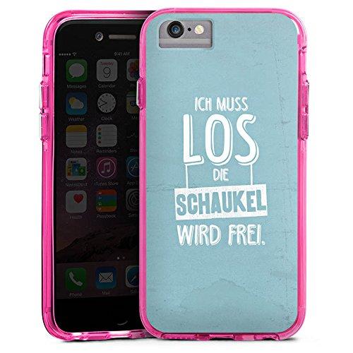 Apple iPhone 6 Plus Bumper Hülle Bumper Case Glitzer Hülle Spruch Humor Visual Statements Bumper Case transparent pink