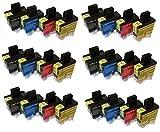 24 Druckpatronen für Brother freie Farbauswahl DCP-110C, DCP-110, DCP115 C,DCP-117C, DCP-120,DCP-120C,DCP -210C,DCP-310C, DCP-310CN, DCP 315C , DCP 315CN , DCP 340 CW MFC-210C, MFC210, MFC-215C, MFC-410C, MFC-410CN, MFC-420C, MFC-420CN, MFC-425, MFC-425CN, MFC-610CLN, MFC-610CLWN, MFC-620C, MFC-620CN, MFC-620CLN, MFC-3240C, MFC-3240CN, MFC-3340 C, MFC-3340CN, MFC-5440C, MFC-5440CN, MFC-5840CN FAX-1835 C, FAX-1840 C, FAX-1940 CN, FAX-2440C, FAX-5440C ersetzt LC-900BK LC-900C LC-900M LC-900Y LC900M LC900C LC900Y LC900BK
