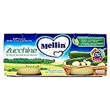 Mellin Omogeneizzato alle Zucchine - 12 confezioni da 2 pezzi da 80 g [24 pezzi, 1920 g]
