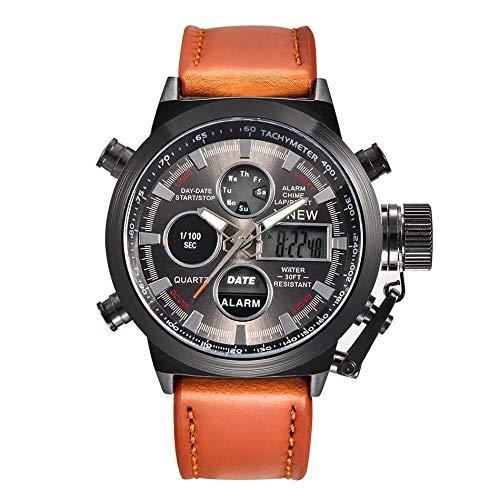 Reloj De Cuero para Hombre Reloj Japonés De Cuarzo Japonés