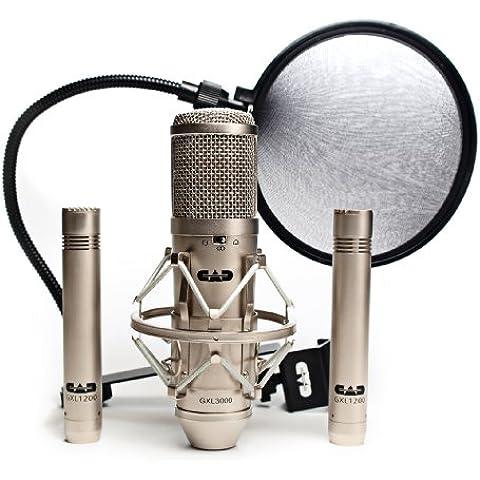 CAD Audio GXL3000SSP - Set professionale da 4 pezzi, microfono stereo a condensatore