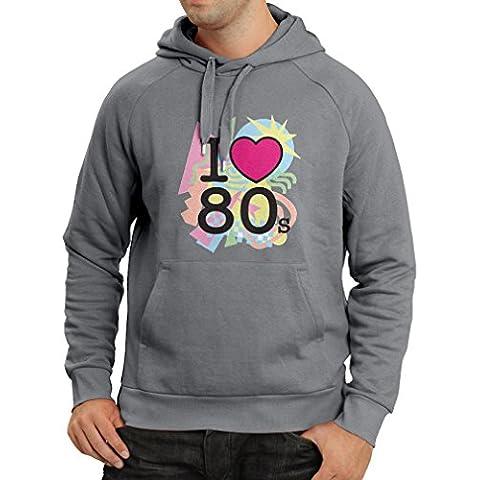 Felpa con cappuccio Amo '80s t shirt musica rock bands regalos