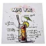 Dadeldo Living & Lifestyle Kunstdruck Cocktail Mai Tai Design 28x28cm auf Leinwand Keilrahmen