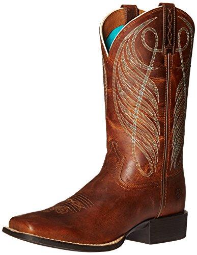 Ariat Stiefel Round Up Wst 18528Braun/Damen Westernreitstiefel Braun/Westernstiefel/Western Riding Boots, Groesse:41 (7 UK) Damen-western-stiefel Größe 7