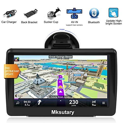 Navigationsgeräte für Auto, Navi 7 Zoll Bluetooth, PKW LKW Navi, Navigation Fuer Auto Europa, Kostenloses Kartenupdate, Navigationsgerät mit Sprachsteuerung, Rückfahrkamera unterstützen