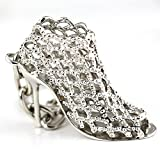 Dasuke Silver High-heeled Shoe Keychain Creative Fashion Refinement Lady Gift Hollow Shoes Keyring Key Chain Ring Keyfob 86113