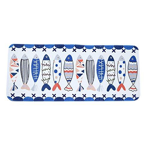 Starnearby Rutschfeste Badezimmer Fuß Pad Indoor Outdoor Küche Boden Teppich Teppich Schöne Fisch Muster Haustier Matte Schlafzimmer Wohnzimmer Decor 50*120CM (Teppiche Indoor-küche)
