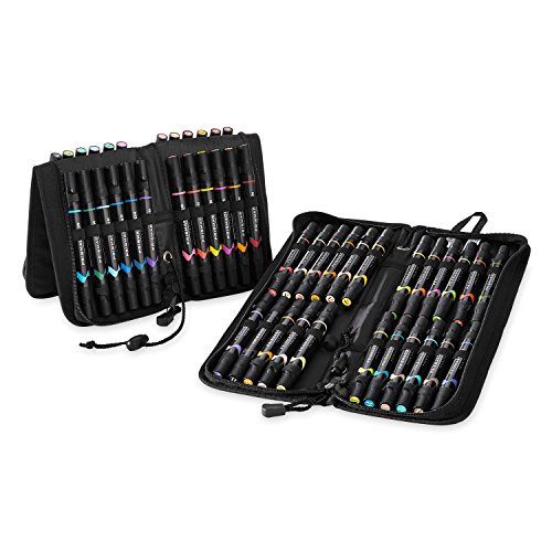 Prismacolor Premier Double-Ended Art Markers, Fine and Brush Tip, 48-Count with Carrying Case