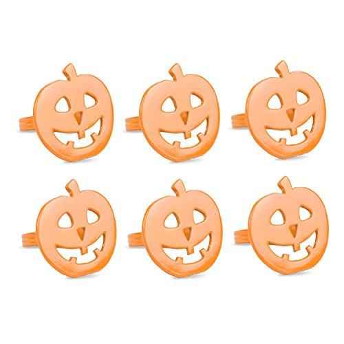 DII Serviette Ringe für Abendessen Orange Pumpkin