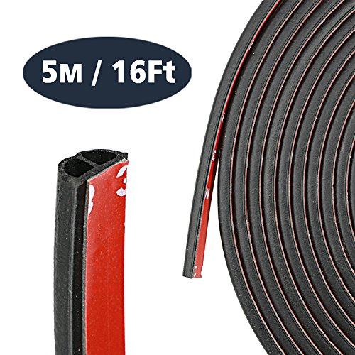 YOUSHARES Auto Zierleiste Chrom Zierleisten Trim - DIY 5 Meter Gummidichtung Strip Typ D, Automan flexiblem Innenraum Dekorative Streifen Line