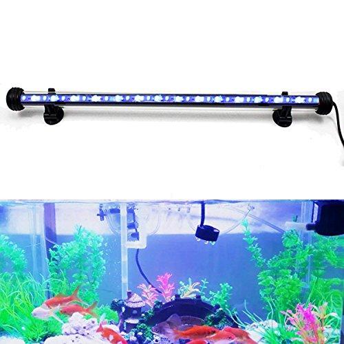 DOCEAN 5,8W 48cm LED Aquarium Beleuchtung Aquarium Lampe Aquariumleuchte IP68 Wasserdicht Unterwasserleuchte, Weiß + Blau Licht - Led-aquarium-lichter 48