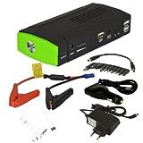 PremiumX 13600mAh Tragbare Auto Starthilfe Batterie Ladegerät mit Multifunktion KFZ Starthilfekabel Stromerzeuger - USB Taschenlampe Ladegerät Akku für Handys Tablet