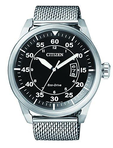 Citizen Herren-Armbanduhr Analog Quarz Edelstahl AW1360-55E