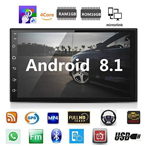Classicoco Navigazione GPS, Radio Player, Auto, Navigazione GPS per Auto Radio Player Bluetooth Full HD 1080P 7 Pollici WiFi Music RAM 1GB
