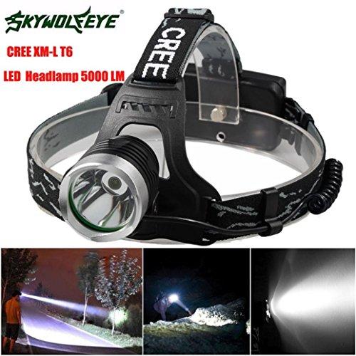HCFKJ 5000 Lm CREE XM-L XML T6 LED Scheinwerfer Scheinwerfer Taschenlampe Kopf Lampe - Elektroschocker Led-taschenlampe